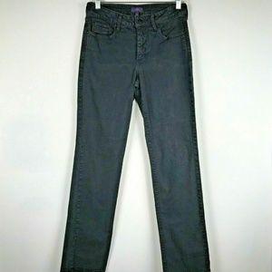 NYDJ Size 6 Black Straight Leg Denim Jeans